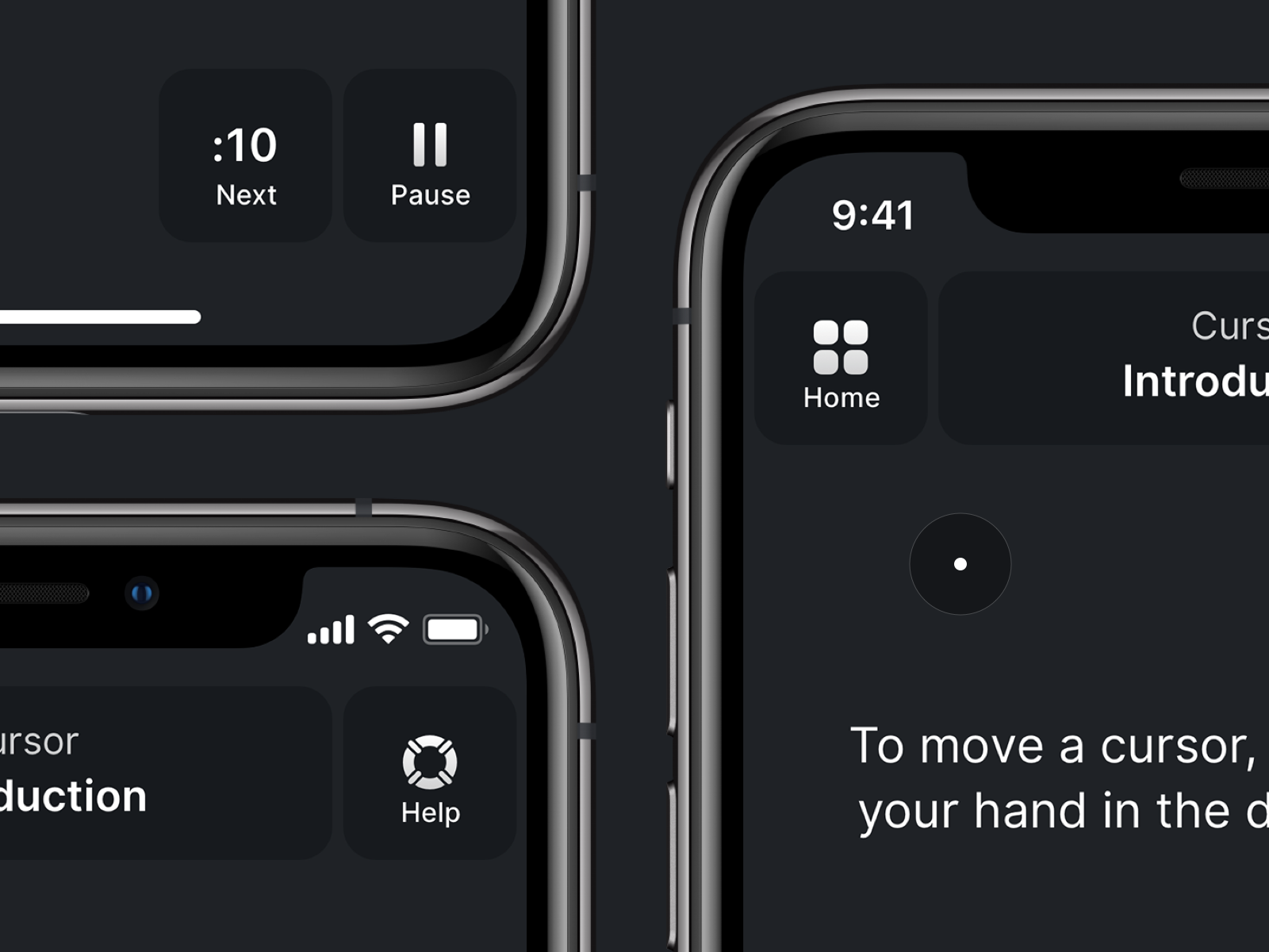 Neuralink app accessible buttons