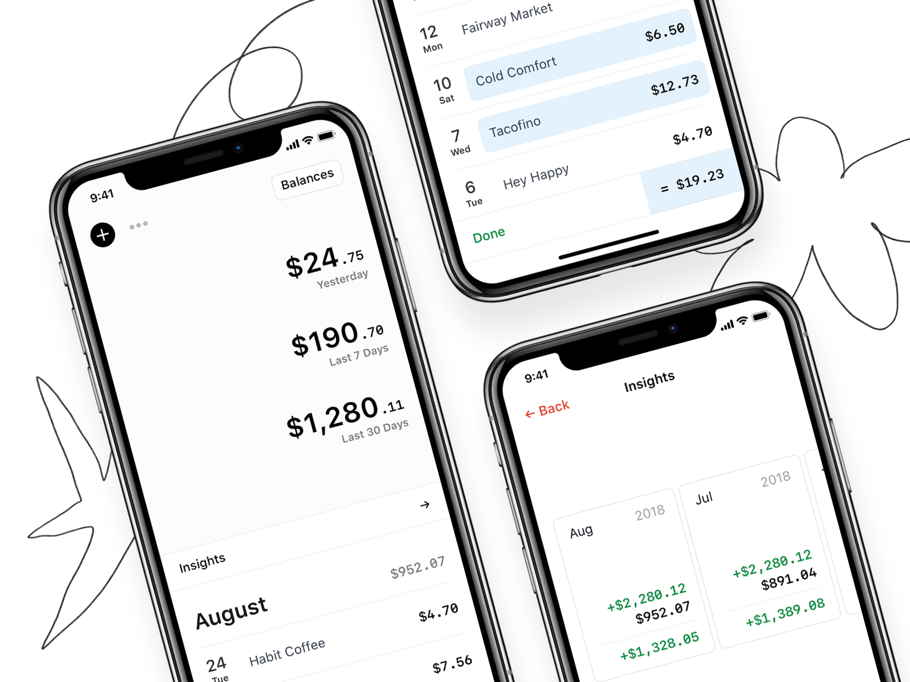 Rollie personal finance spending tracker app