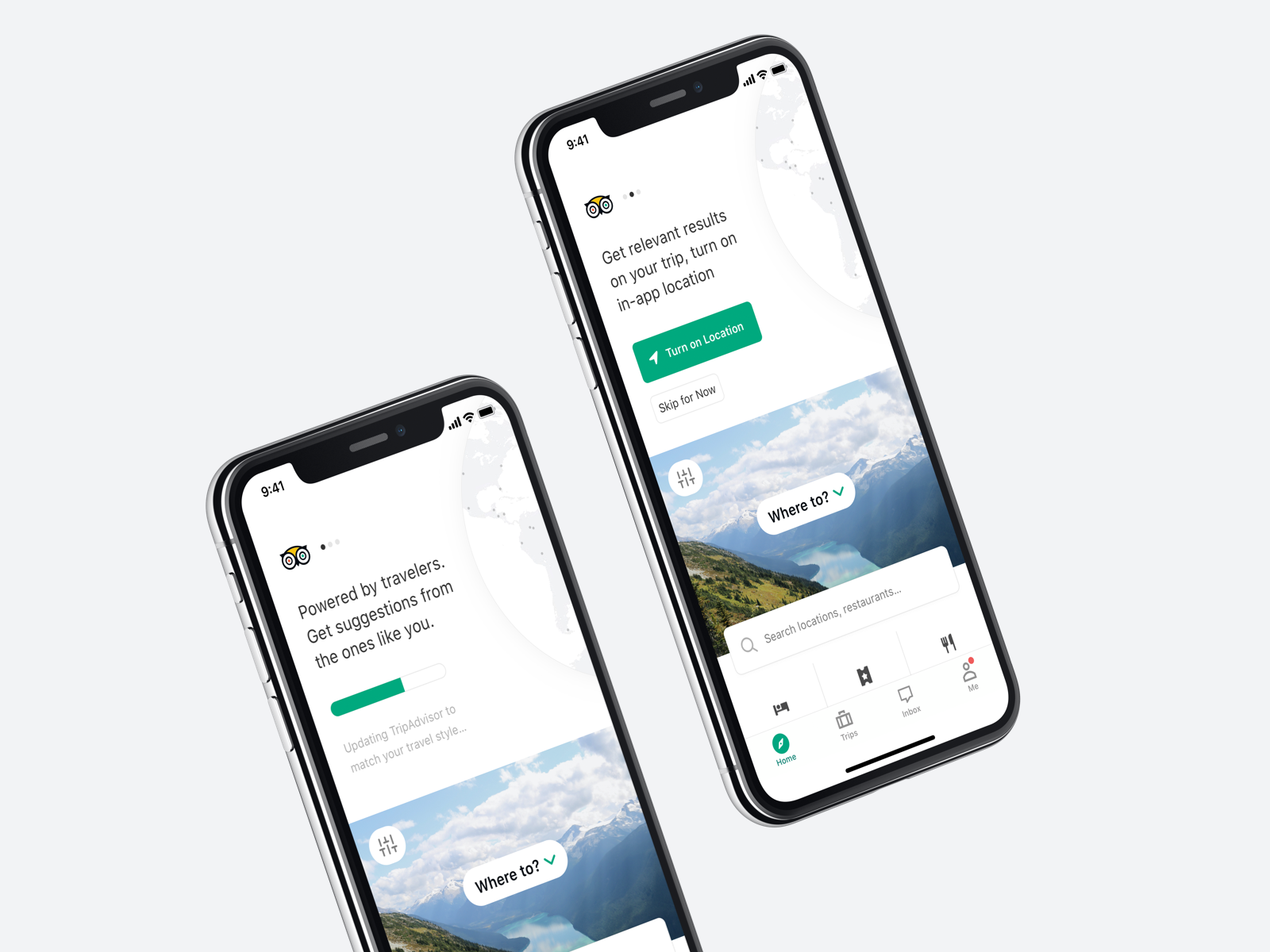 Trip Advisor onboarding and personalization design system